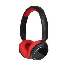 Dynamode Bluetooth Stereo Headphone + LCD Display Built-in Microphone Black/Red