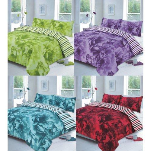 Rose Printed Duvet Quilt Cover Floral Bedding Set