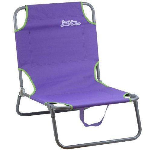 just be...® Beach & Garden Folding Sun Chair Lounger - Purple