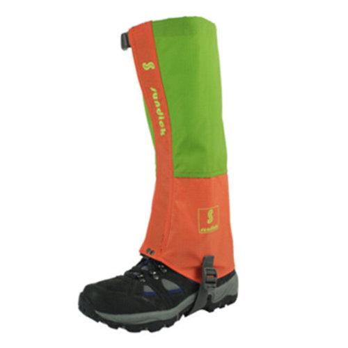 (Green/Orange) Sports Shoe Gaiters Running Hiking Podotheca Foot Strap,1 Pair