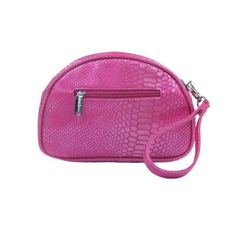 Picnic Gift 7466-PK Pina Colada-Clutch Insulated Cosmetics Bags with Removable Wristlet, Pink Reptilian