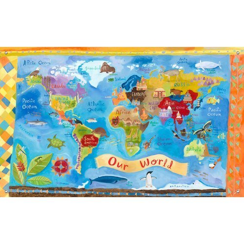 Oopsy Daisy Canvas Wall Murals Our World by Donna Ingemanson 42 by 26 Inch