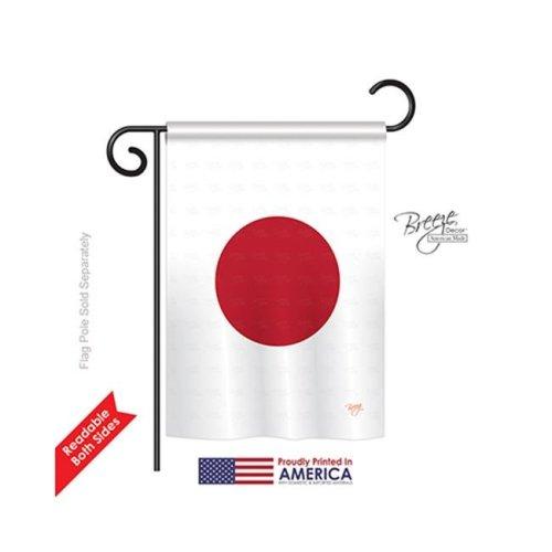 Breeze Decor 58128 Japan 2-Sided Impression Garden Flag - 13 x 18.5 in.
