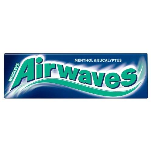Wrigleys Airwaves Menthol & Eucalyptus Chewing Gum - 10 Pieces