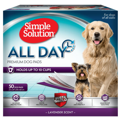Simple Solution All Day Premium Dog Pads 50ct 23''x 24''