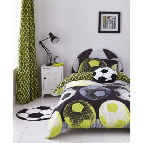 Catherine Lansfield Neon Football Easy Care Single Duvet Set Yellow