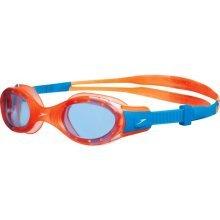 Orange/blue Junior Speedo Goggles - Futura Biofuse Goggle Orange Clear Swimming -  speedo junior futura biofuse goggle orange clear swimming sporting