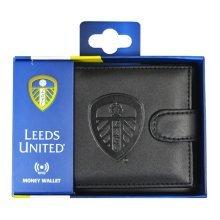 Leeds United Rfid Embossed Leather Wallet - Safe Gift Official Licensed Product -  leeds united leather wallet rfid embossed safe gift official