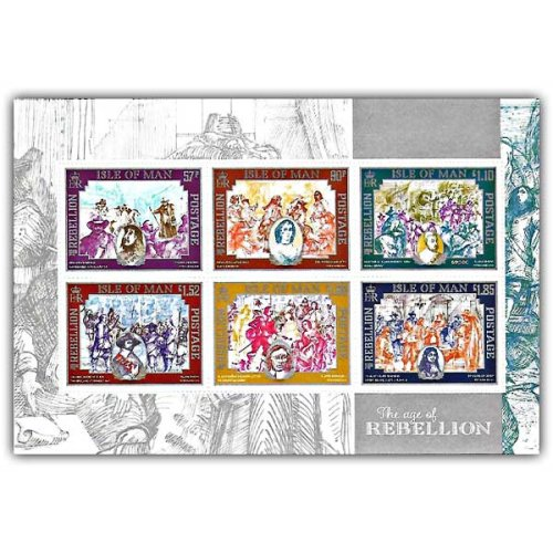 Isle of Man 2019 Stamps The Age of Rebellion Self Adhesive Pane (Mint)