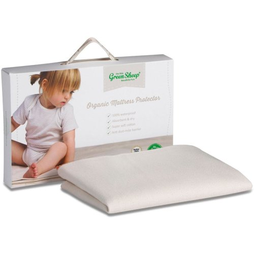 The Little Green Sheep Organic Mattress Protector - Moses Basket/Pram (30 x 70cm)
