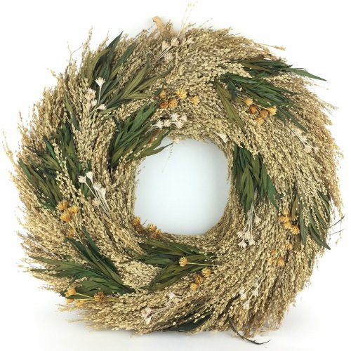 Door Wreath 38cm Large Dried Grass Wall Autumn Decoration Eco Friendly