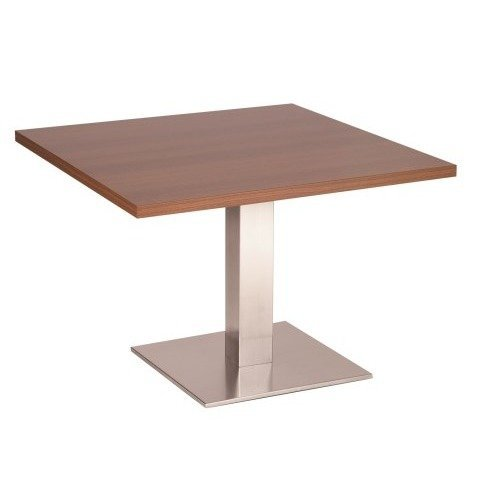Daniella Coffee Table Stainless Steel Base with Various Size and Colour Tops White Square 600 Round (+30)