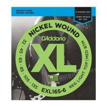 D'Addario EXL165-6 6-String Bass Strings, Custom Light 32-135, Long Scale