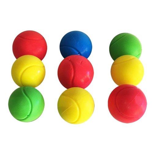 E-Deals 70mm Soft Tennis Balls - Pack of 9 Assorted Colours