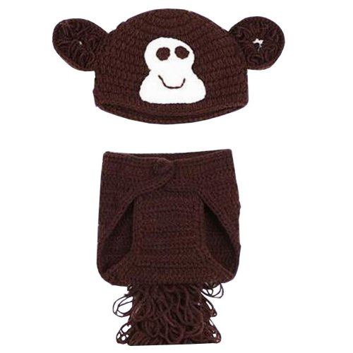 Newborn Baby Photography Props Knitted Handmade Clothing [Brown]