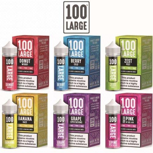 100 Large E-Liquid | Large Juice | Box W/ Nic Shot
