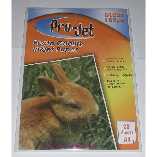 A4 Projet 185gsm Gloss Photo Paper