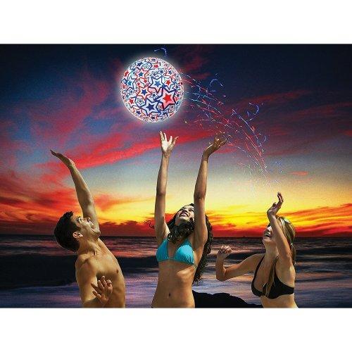 SwimWays Light-Up Beach Ball - Swimming Pool Inflatable
