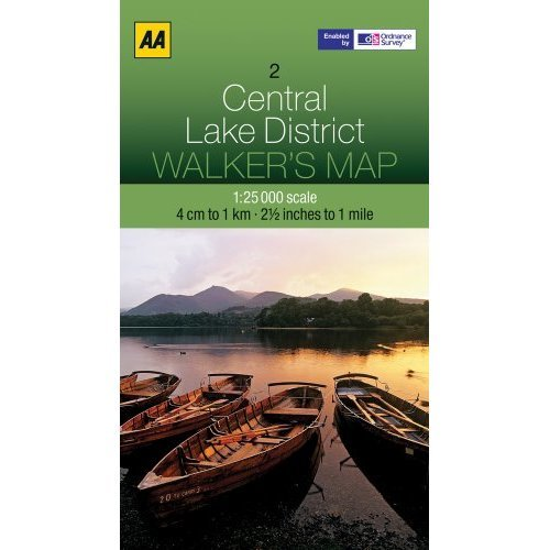 Walkers Map Central Lake District (AA Leisure Maps)