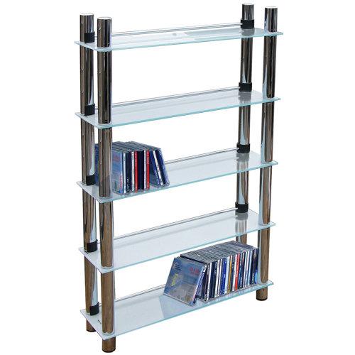 MATRIX - 5 Tier 165 DVD Blu-ray / 250 CD / Media Storage Shelves