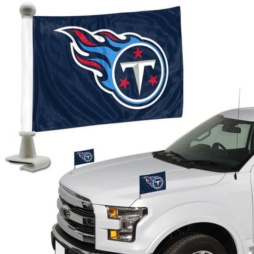 Team ProMark 84843 4 x 6 in. Tennessee Titans Ambassador Car Flag, Set of 2