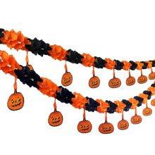 2PCS Halloween Hanging Punpkin Garland Creative House Party Decor 30CM