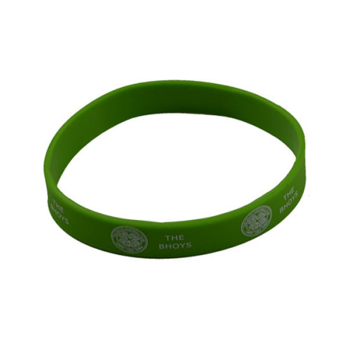 Official Glasgow Celtic Fc Green Rubber Wristband - Silicone Football New Club -  celtic wristband fc silicone football new official club