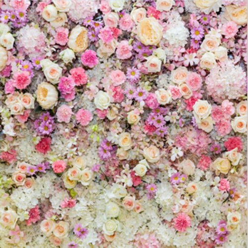 5x5FT Vinyl Valentine's Day Love Flowe Blossom Photo Studio Backdrop Photography Background