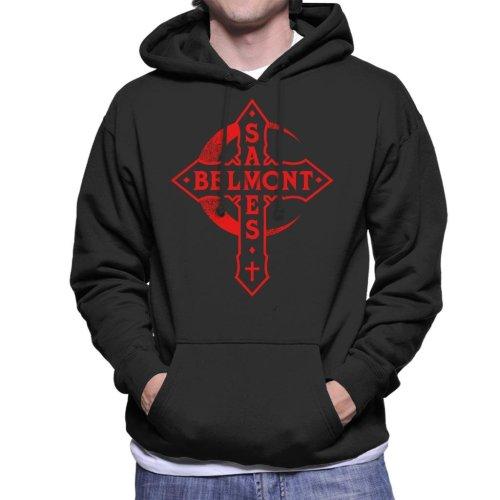 Castlevania Belmont Saves Cross Men's Hooded Sweatshirt