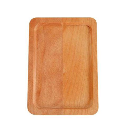Wooden Dinnerware Fruit/ Meat/ Dessert Plate Square Wooden Dish  24.5 X 15.5 CM