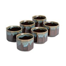 6 PCS Chinese Ceramic Tea Cups Household Teacup Kung Fu Tea Set Archaistic Water Cup, #12