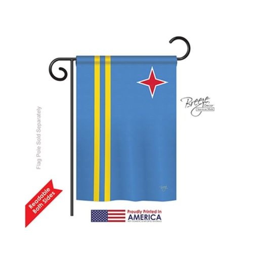 Breeze Decor 58340 Aruba 2-Sided Impression Garden Flag - 13 x 18.5 in.