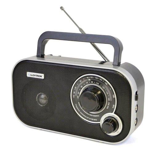 Lloytron N2405BK Battery Operated 'Calypso' 2 Band AM/FM Portable Radio - Black