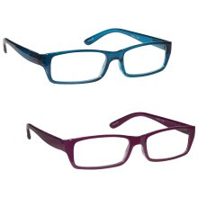 853a3f36c50 The Reading Glasses Company Sea Blue   Rich Pink Lightweight Readers Value  2 Pack Womens Ladies RR16-34 +3.00
