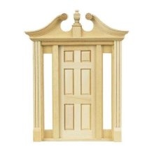 Dollhouse Miniature Deerfield Door with Sidelights