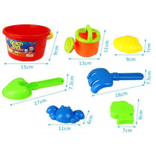 Kids Favorite Outdoor Safe Funy Beach Sand Toys/Bathing Water Toys (7 Ensemble)