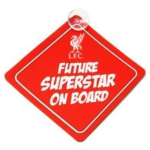 Liverpool Fc Official Future Superstar Football Crest Baby On Board Car Sign - -  football liverpool board sign official baby car club licensed