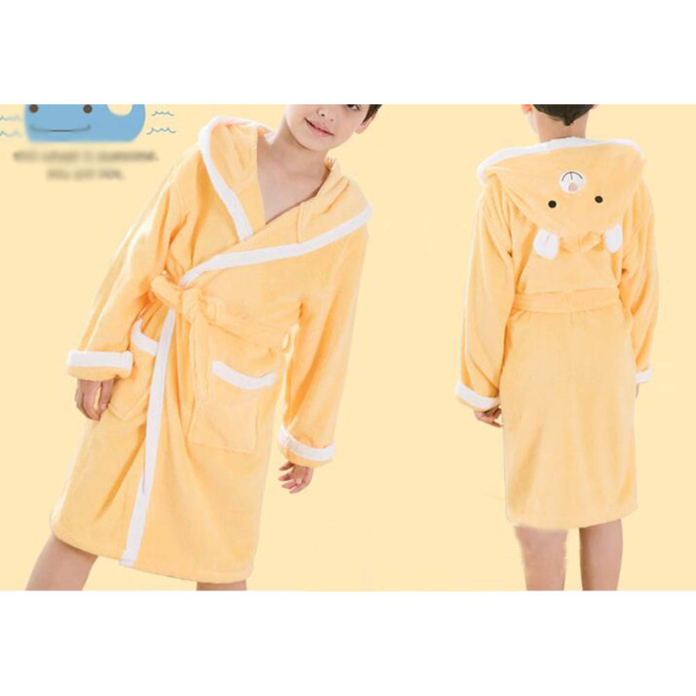 feeee26c84 ... Children Cotton Bathrobe Soft Swim Bath Gown Robes Pajamas with Hat-A13  - 1.