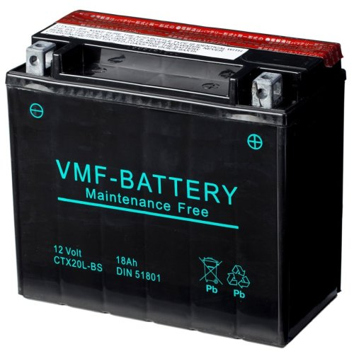 VMF Powersport Liquifix Battery 12 V 18 Ah MF YTX20L-BS