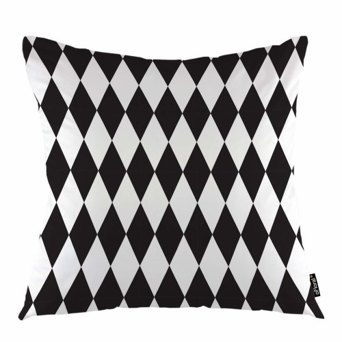 "Melyaxu Rhombus Throw Pillow Cover Geometric Endless Rhombus Plaid Decorative Square Pillow Case 18""X18"" Pillowcase Home Decor for Sofa Bedroom"