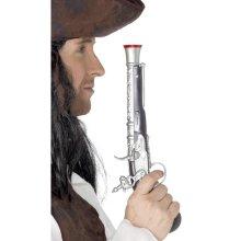 30cm Pirate Pistol - Fancy Dress Gun Accessory Silver Smiffys Toy -  pirate pistol fancy dress gun accessory silver smiffys toy