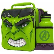 St359 - 3d Lunch Bag With Bottle - Hulk - Box Avengers Thermal Drink Set Star -  3d lunch bag bottle box avengers thermal drink set hulk star wars