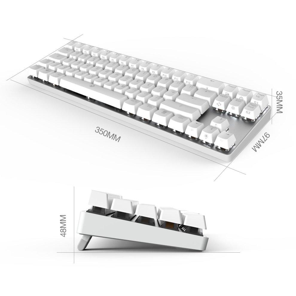 8154dd3bd6b ... DREVO Calibur 72 Key RGB Wireless Mechanical Keyboard Backlit Bluetooth  4.0- UK Layout (Brown. >