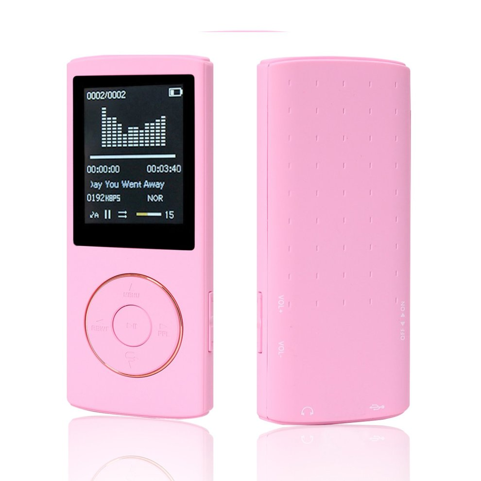 HccToo Music Player 16GB Portable Lossless Sound MP3 Player 45 Hours  Playback (Pink)