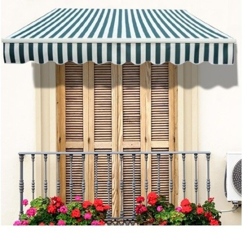 Outsunny 2.5m X 2m Garden Awning with Winding Handle