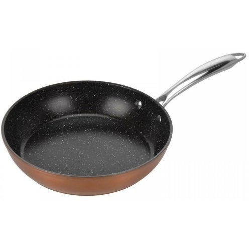 28cm Copper Frying Pan 28cm Non Stick Marble Coating PFOA Free Coating Induction