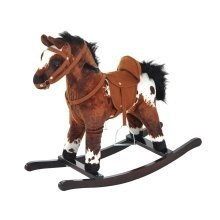 Homcom Rocking Horse / Pony Handle Ride on Animal (dark Brown Horse)