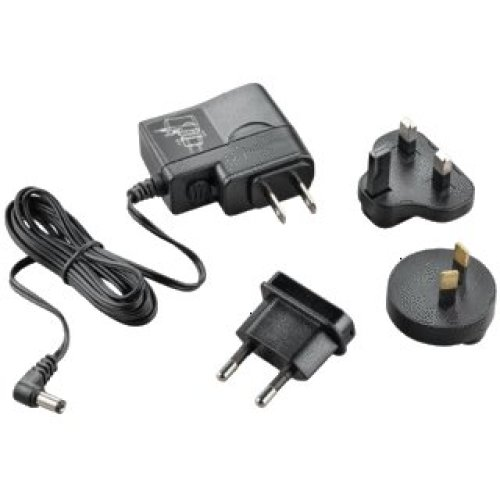Plantronics AC Adapter Type C (Europlug) Type D (UK) Black power plug adapter