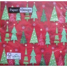 4 x Christmas Paper Napkins - Fir Trees - Ideal for Decoupage