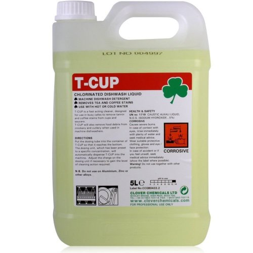 Clover Chemicals - T-cup Chlorinated Dishwasher Liquid Stain Remover